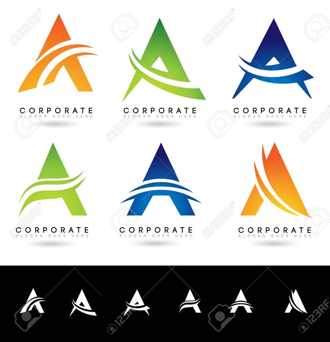 Buchstabe A Logo-Entwürfe. Kreative Abstrakten Vektor Buchstaben A ...