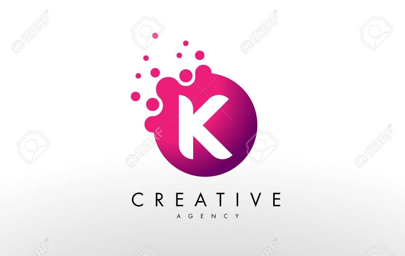 Dots Letter K Logo K Letter Design Vector With Dots