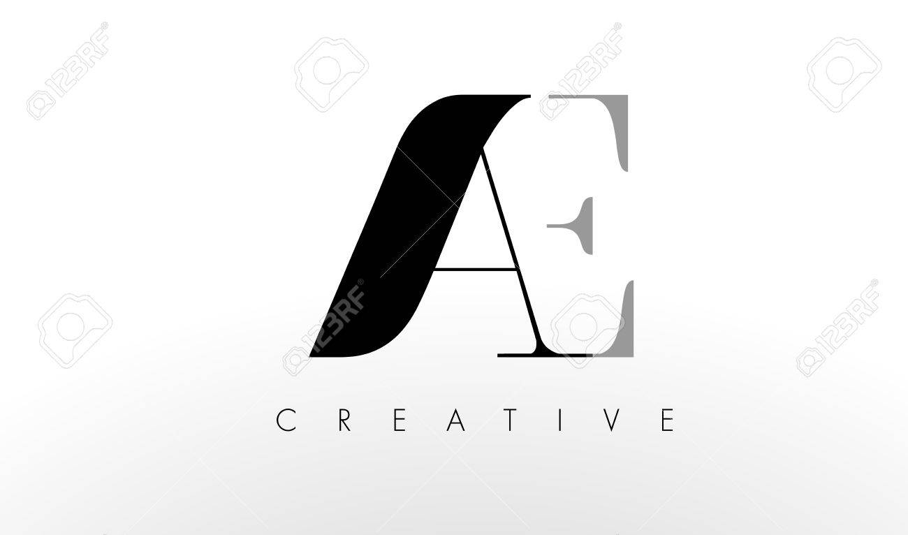 A E Letter Logo Design. Creative Modern AC Letters Icon Illustration ...