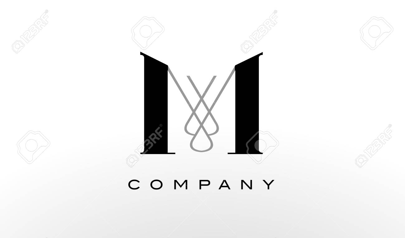 M Letter Logo Design Creative Modern M Letters Icon Illustration