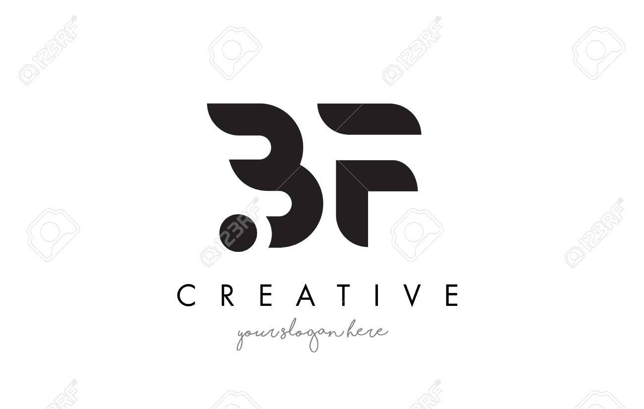 BF Letter Logo Design with Creative Modern Trendy Typography