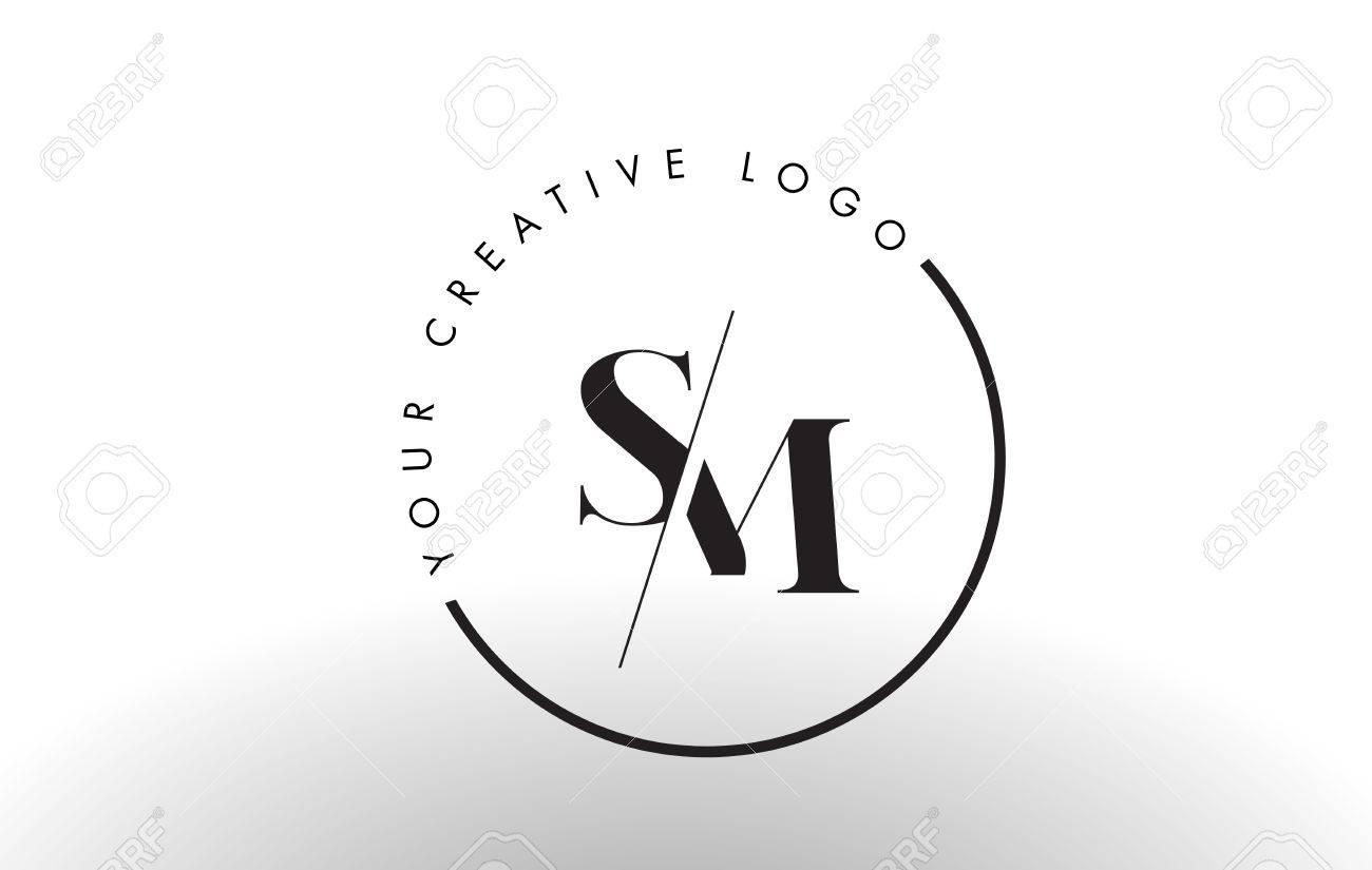 Sm letter logo design with creative intersected and cutted serif sm letter logo design with creative intersected and cutted serif font stock vector 74100306 buycottarizona Choice Image