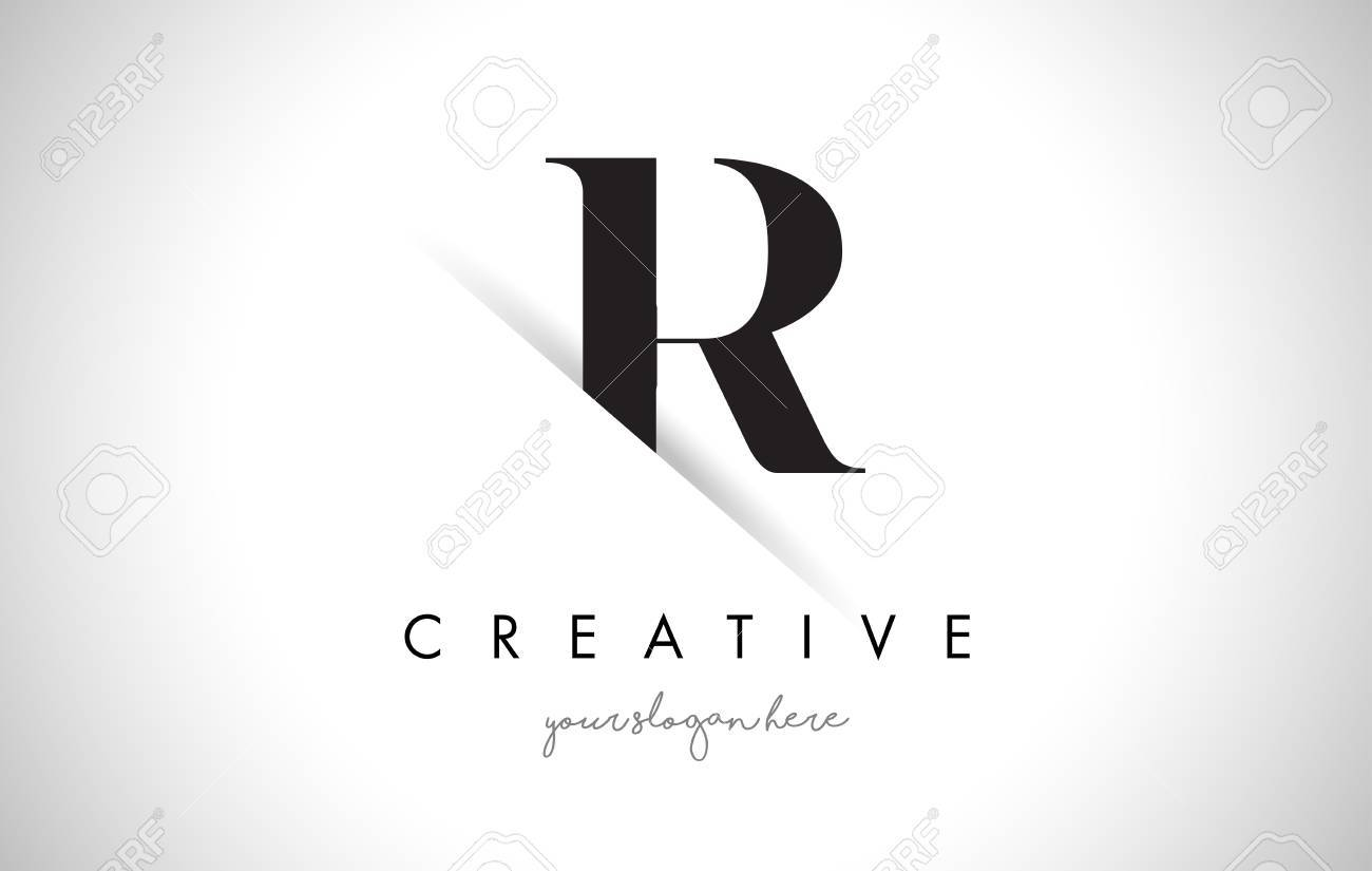 R letter logo design with creative paper cut and serif font royalty r letter logo design with creative paper cut and serif font stock vector 74186555 altavistaventures Image collections