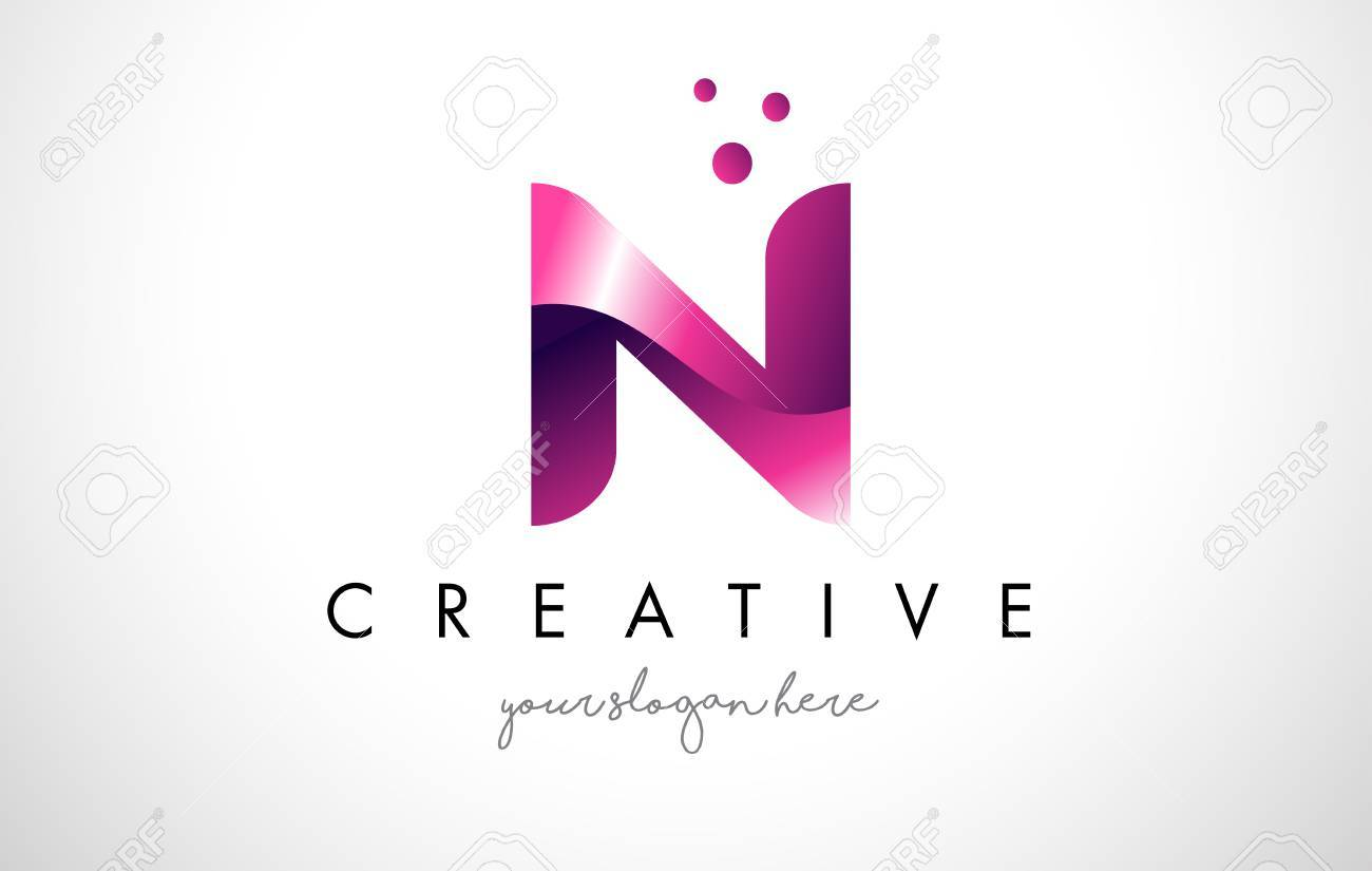 N letter logo design template with purple colors and dots royalty n letter logo design template with purple colors and dots stock vector 74558980 maxwellsz