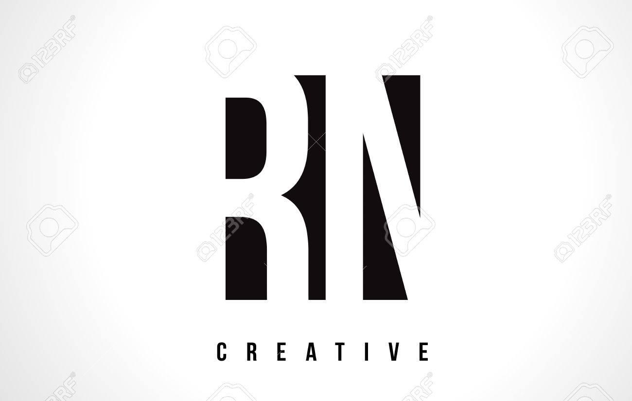 Rn r n white letter logo design with black square vector rn r n white letter logo design with black square vector illustration template stock vector altavistaventures Images