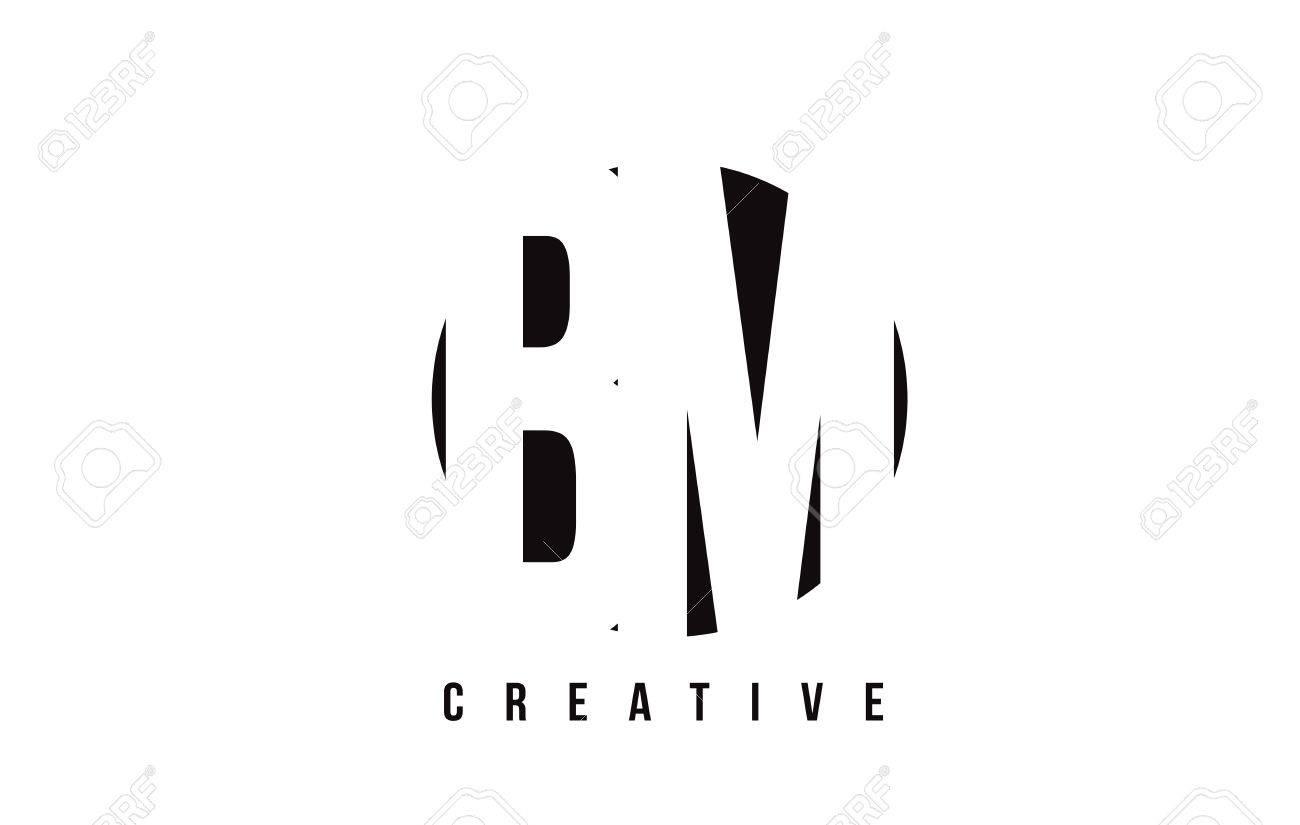 bm b m white letter logo design with circle background vector illustration template stock vector