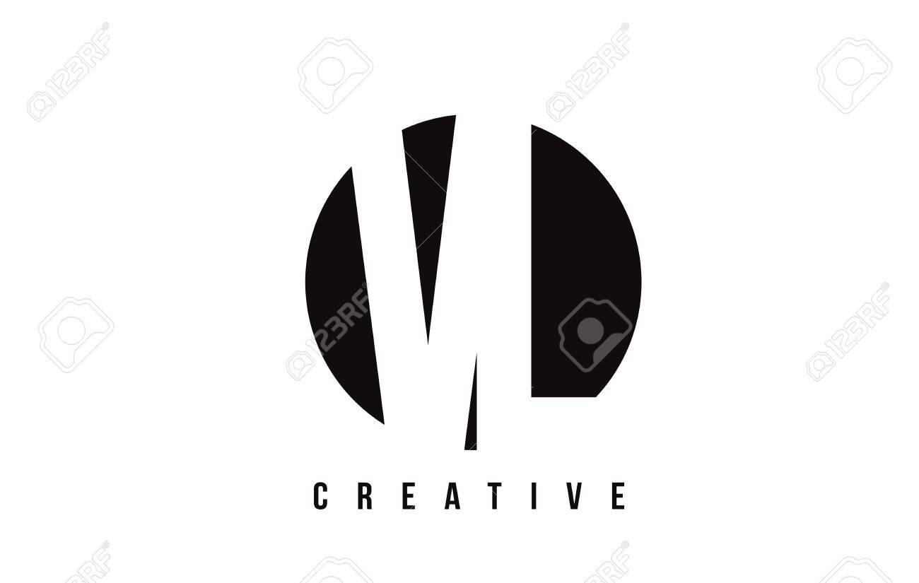 Vl Vl Weisser Buchstabe Logo Design Mit Kreis Hintergrund Vektor Illustrations Schablone
