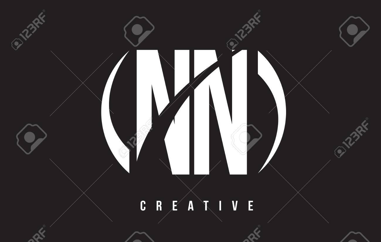 NN N White Letter Logo Design ...
