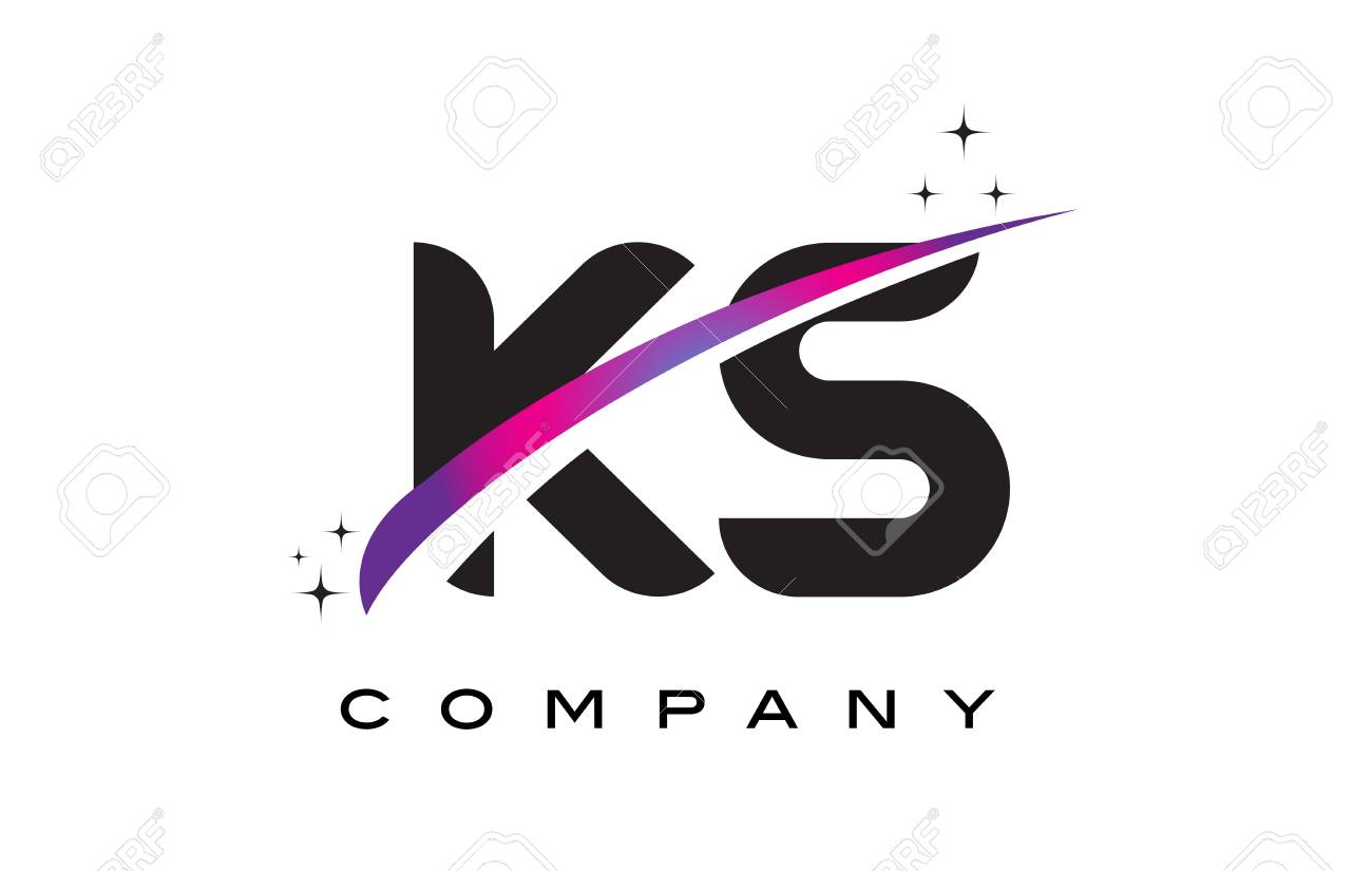 ks k s black letter logo design with purple magenta swoosh and royalty free cliparts vectors and stock illustration image 76696541 ks k s black letter logo design with purple magenta swoosh and