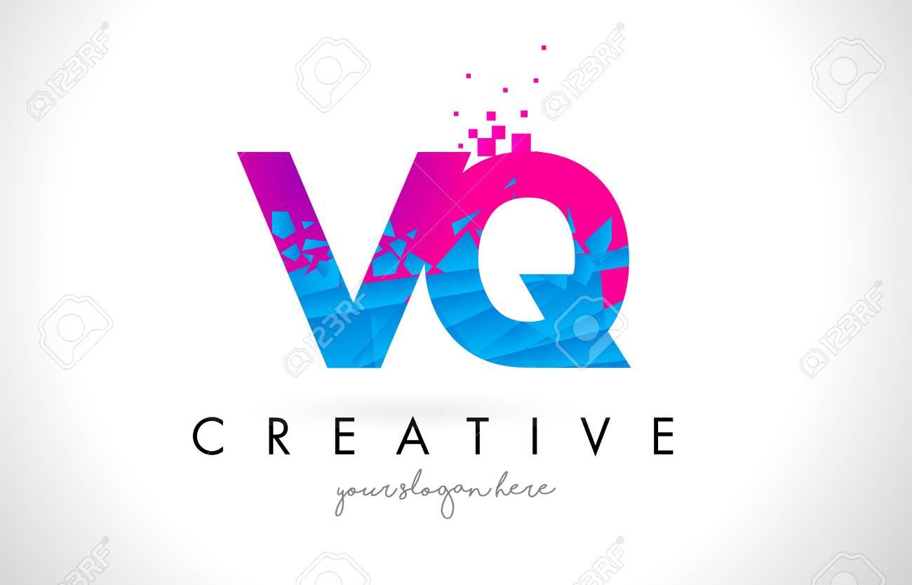 Vq v q letter logo with broken shattered blue pink triangles vector vq v q letter logo with broken shattered blue pink triangles texture design vector illustration thecheapjerseys Gallery