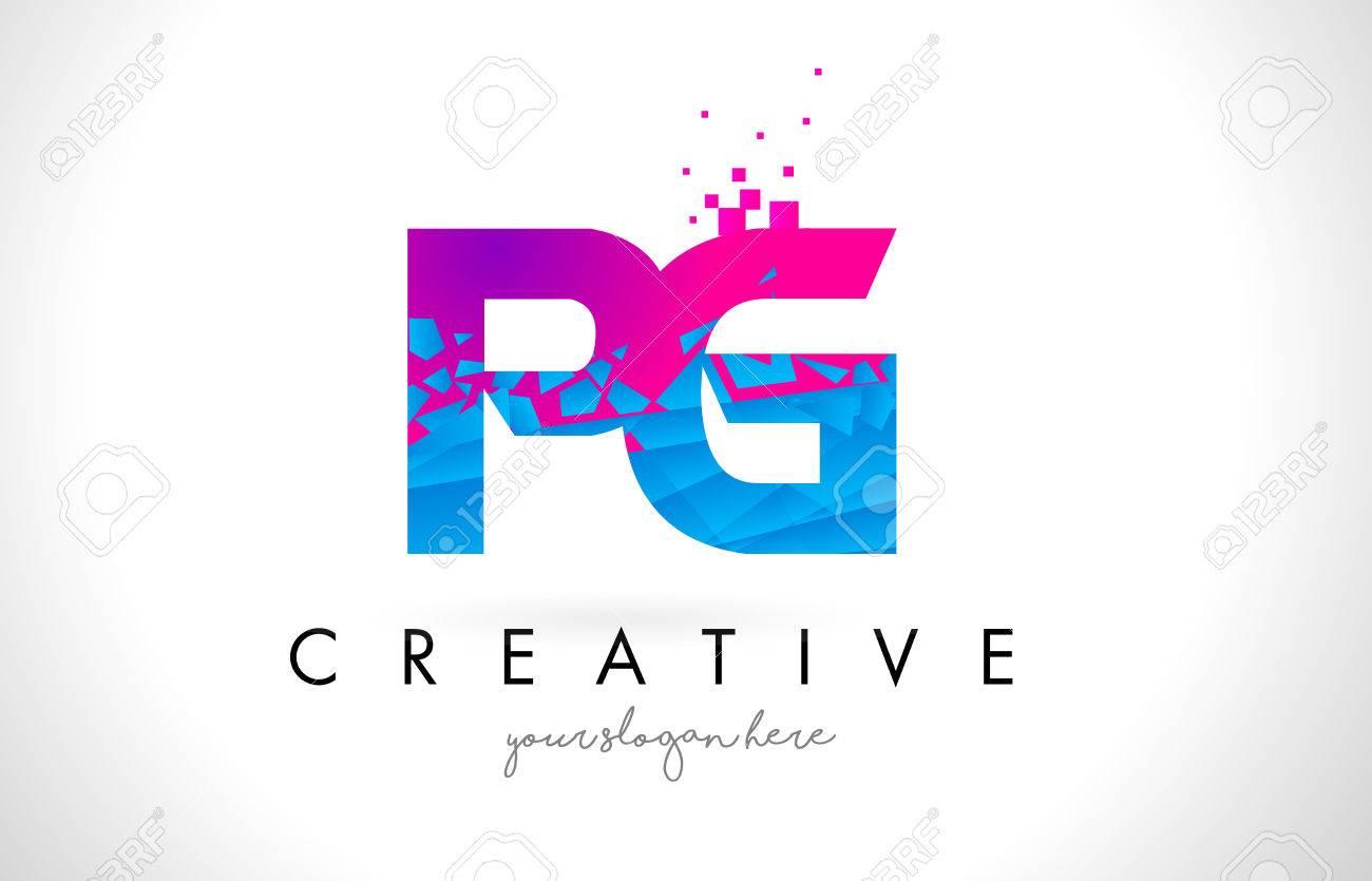 Pg p g letter logo with broken shattered blue pink triangles pg p g letter logo with broken shattered blue pink triangles texture design vector illustration stock thecheapjerseys Gallery