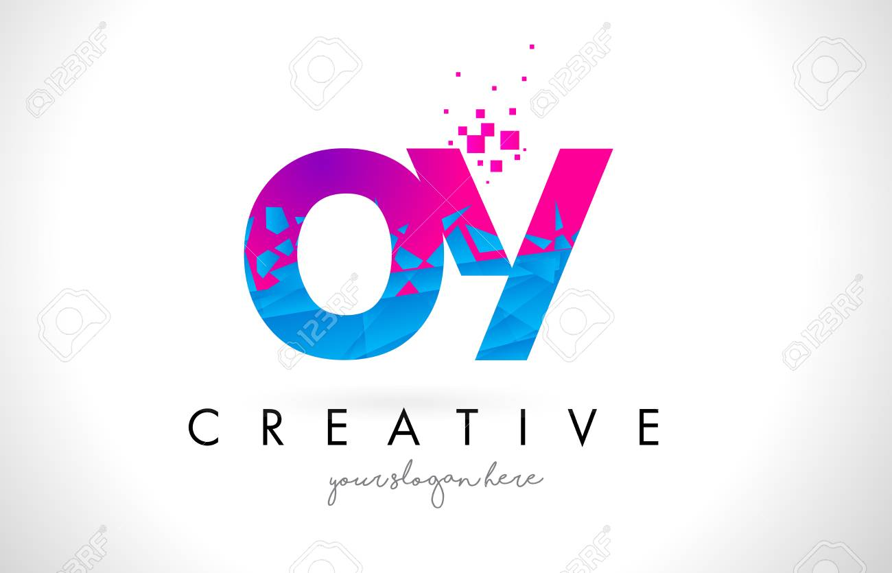 Oy o y letter logo with broken shattered blue pink triangles oy o y letter logo with broken shattered blue pink triangles texture design vector illustration stock thecheapjerseys Gallery