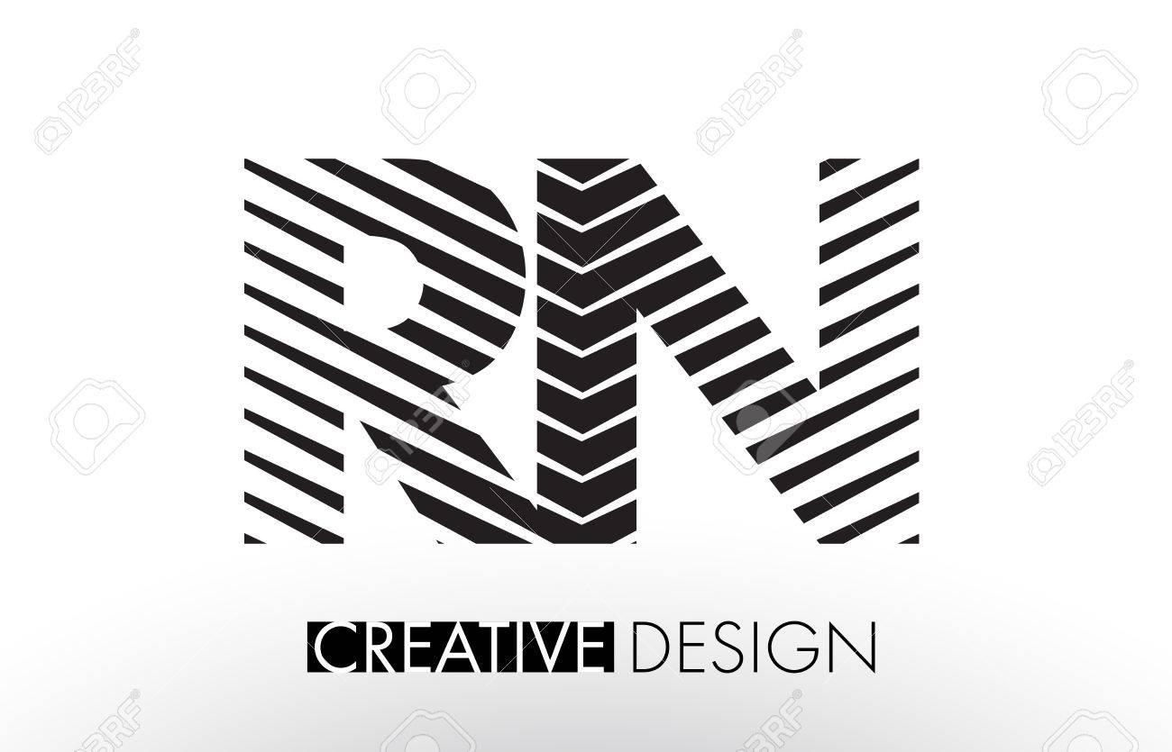 Rn r n lines letter design with creative elegant zebra vector rn r n lines letter design with creative elegant zebra vector illustration stock vector 78353987 altavistaventures Images