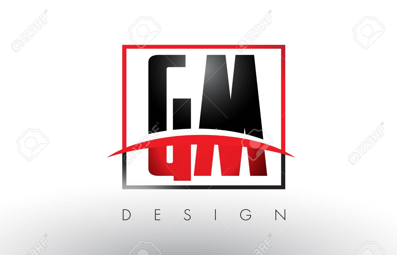 gm g m logo letters with red and black colors and swoosh creative rh 123rf com gm financial logo vector gm financial logo vector