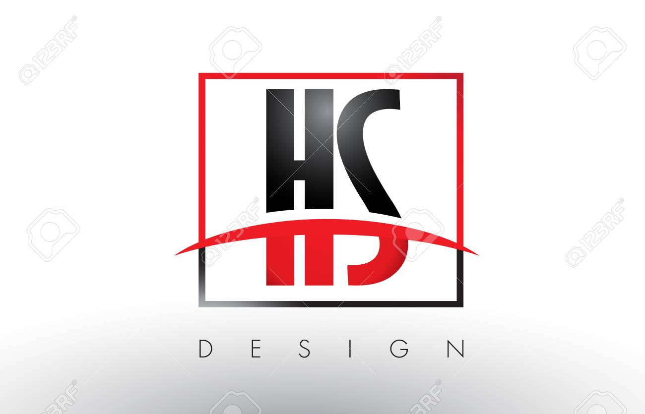 hs h s logo letters with red and black colors and swoosh creative rh 123rf com logo black bay red red and black logo quiz