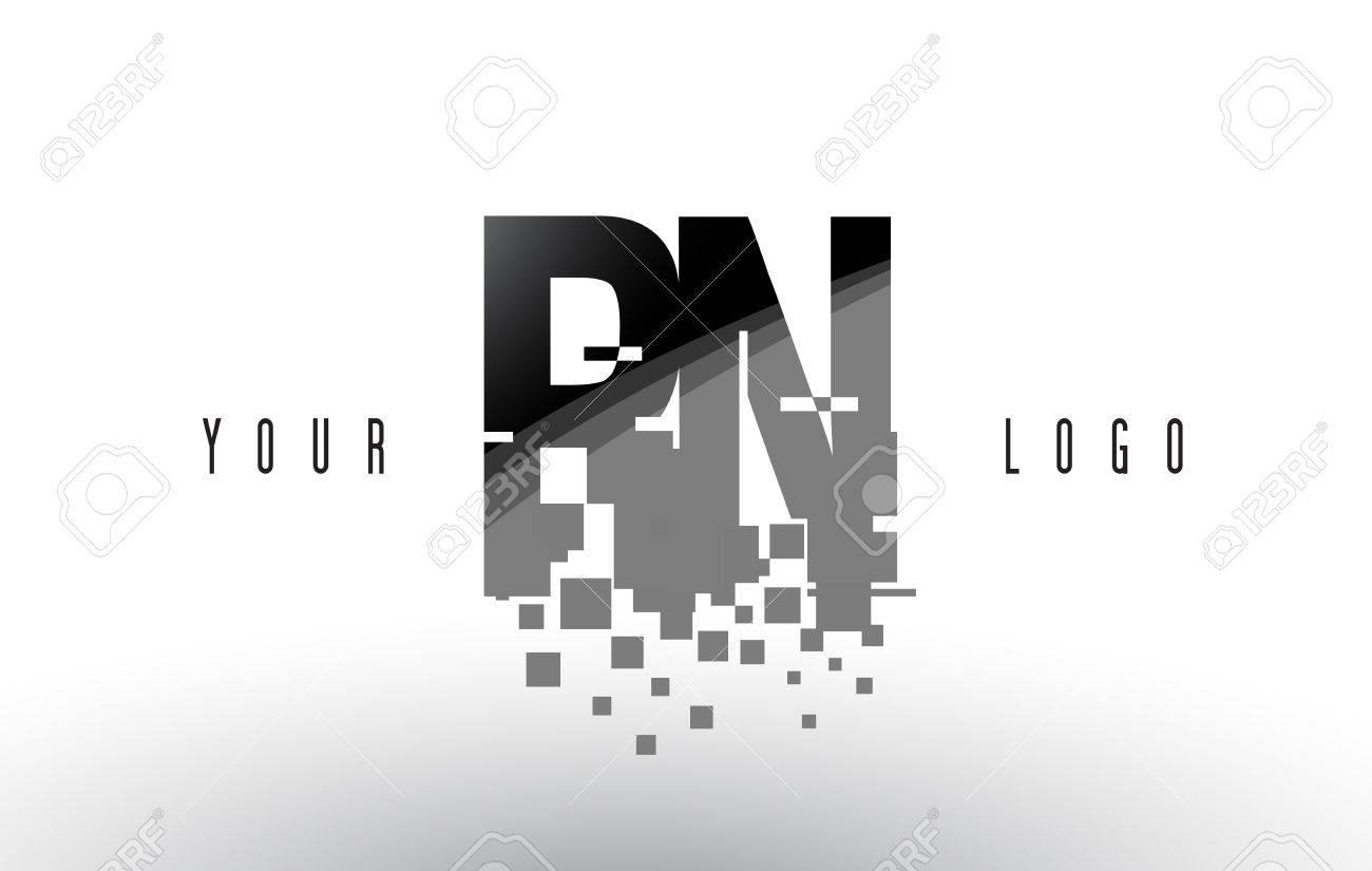 Rn r n pixel letter logo with digital shattered black squares rn r n pixel letter logo with digital shattered black squares creative letters vector illustration altavistaventures Images