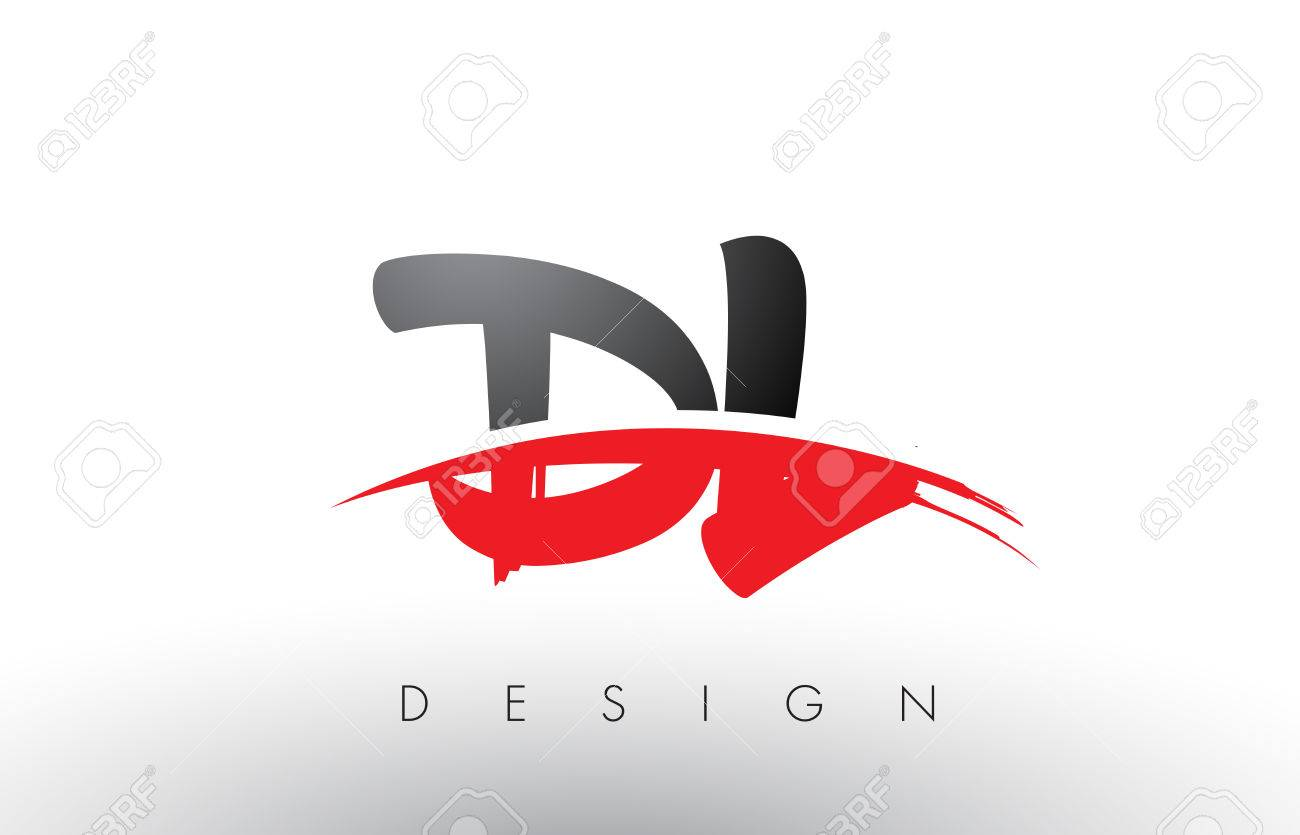 Dl D L Brush Logo Letters Design With Red And Black Colors And Royalty Free Cliparts Vectors And Stock Illustration Image 79234455