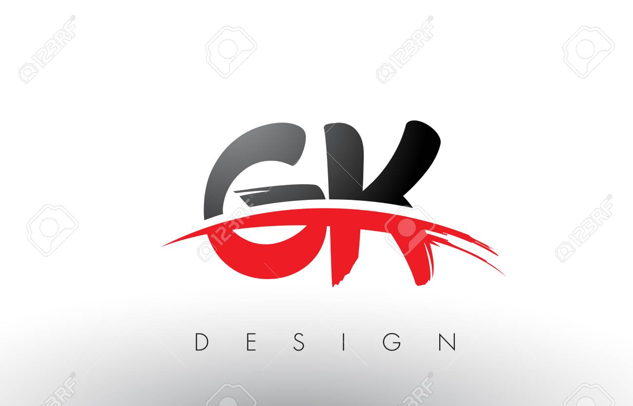 gk g k brush logo letters design with red and black colors and rh 123rf com gsk logo gk logistics rancho cucamonga
