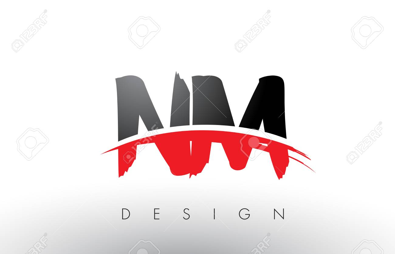 Nm N M Brush Logo Letters Design With Red And Black Colors And Royalty Free Cliparts Vectors And Stock Illustration Image 79234311