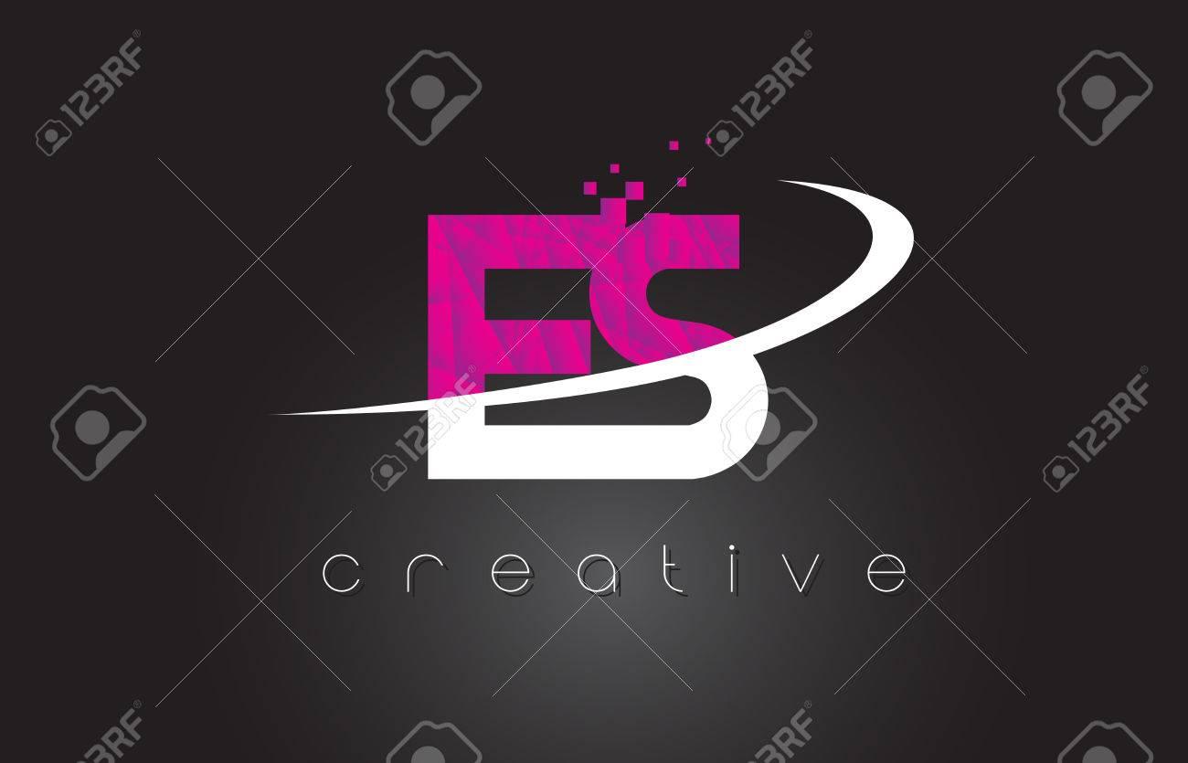 ES creative letter design. - 80267528