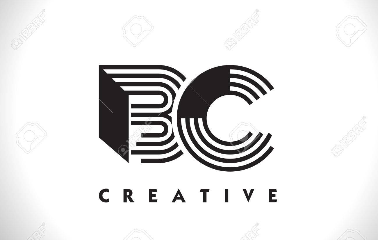 AC Logotipo De La Letra Con Líneas Negras Diseño. Ilustración De ...