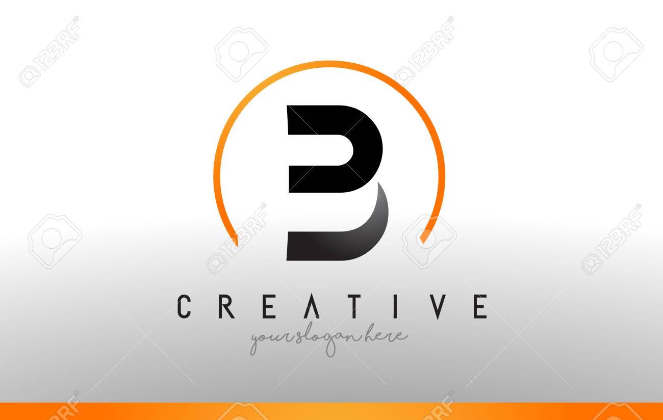 Cool Letter I Logo.B Letter Logo Design With Black Orange Color Cool Modern Icon