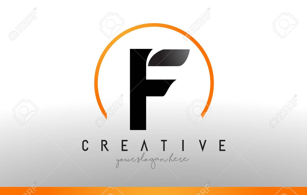 Cool Letter I Logo.F Letter Logo Design With Black Orange Color Cool Modern Icon