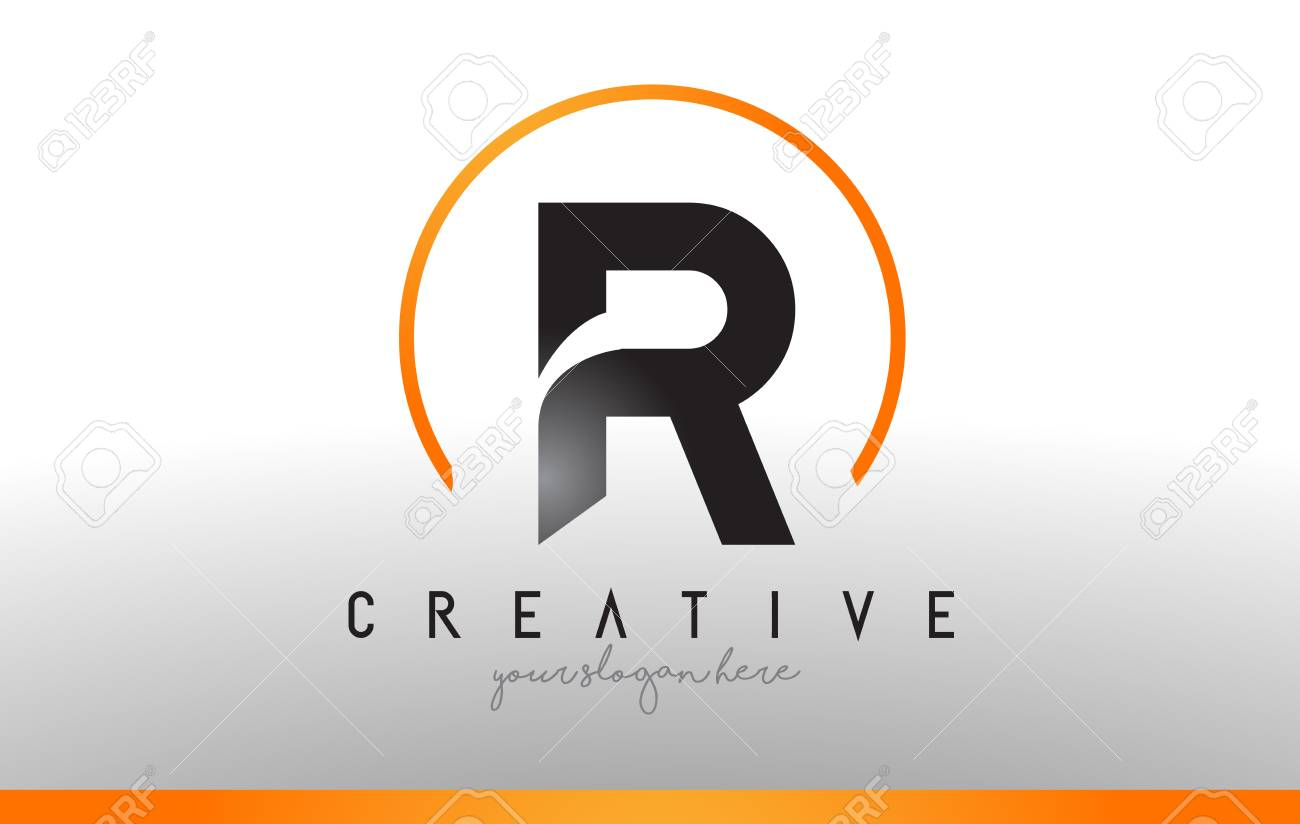 R letter logo design with black orange color cool modern icon r letter logo design with black orange color cool modern icon letters logo vector thecheapjerseys Gallery