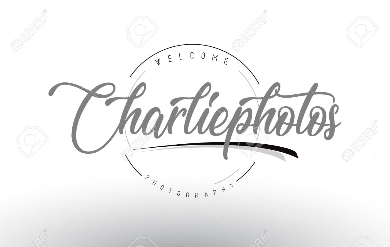 Charlie Personal Photography Logo Design with Photographer Name..