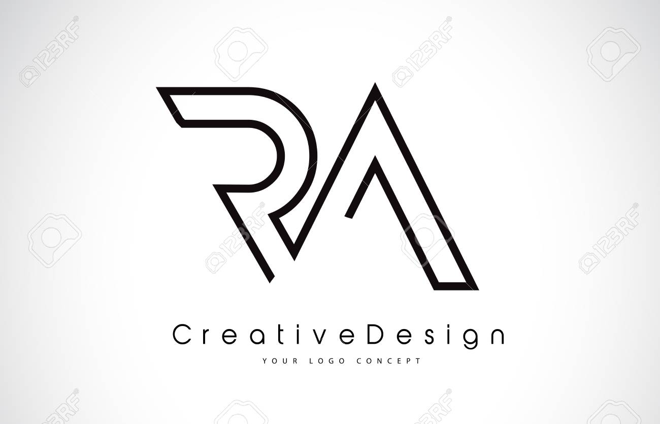 RA R A Letter icon Design in Black Colors. Creative Modern Letters Vector Icon Illustration. - 98668131