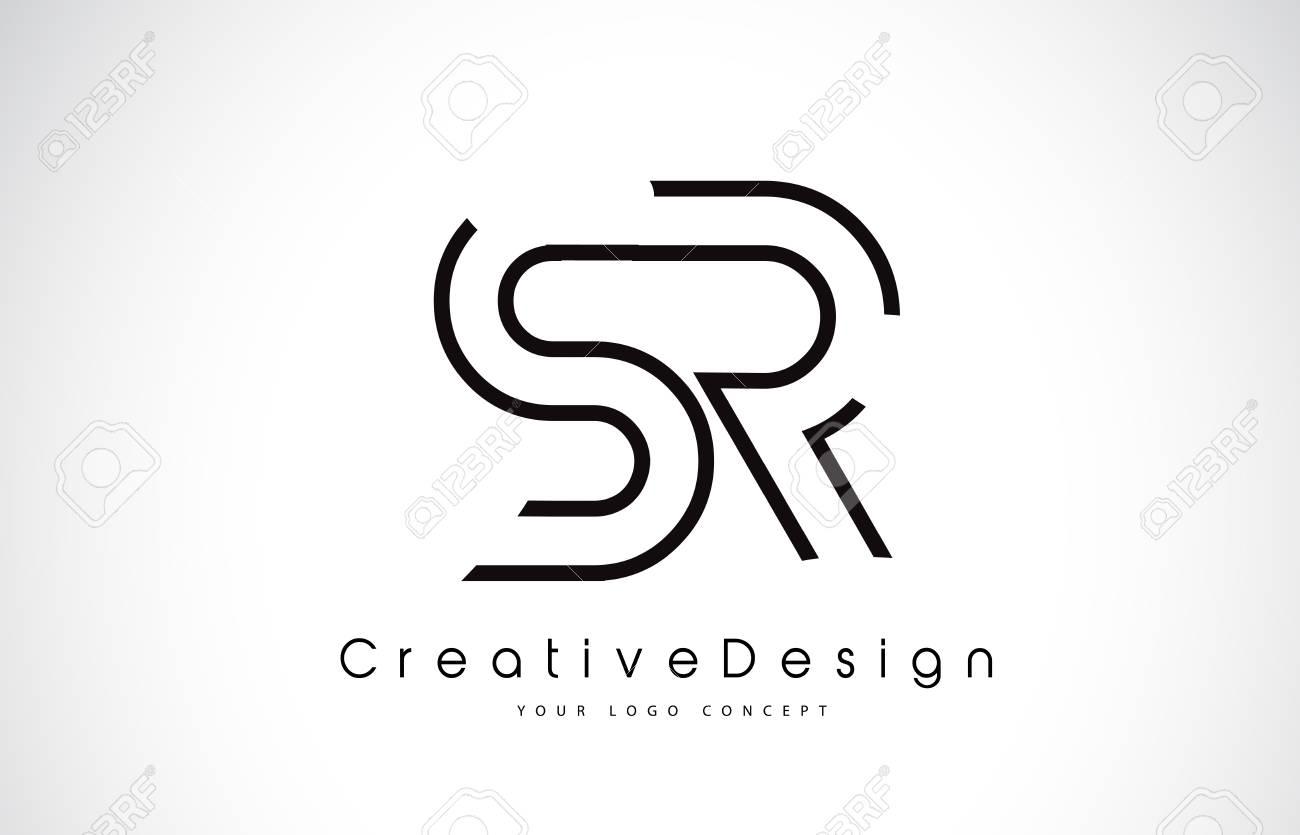 SR S R Letter. Design in Black Colors. Creative Modern Letters Vector Icon Logo illustration. - 98413653