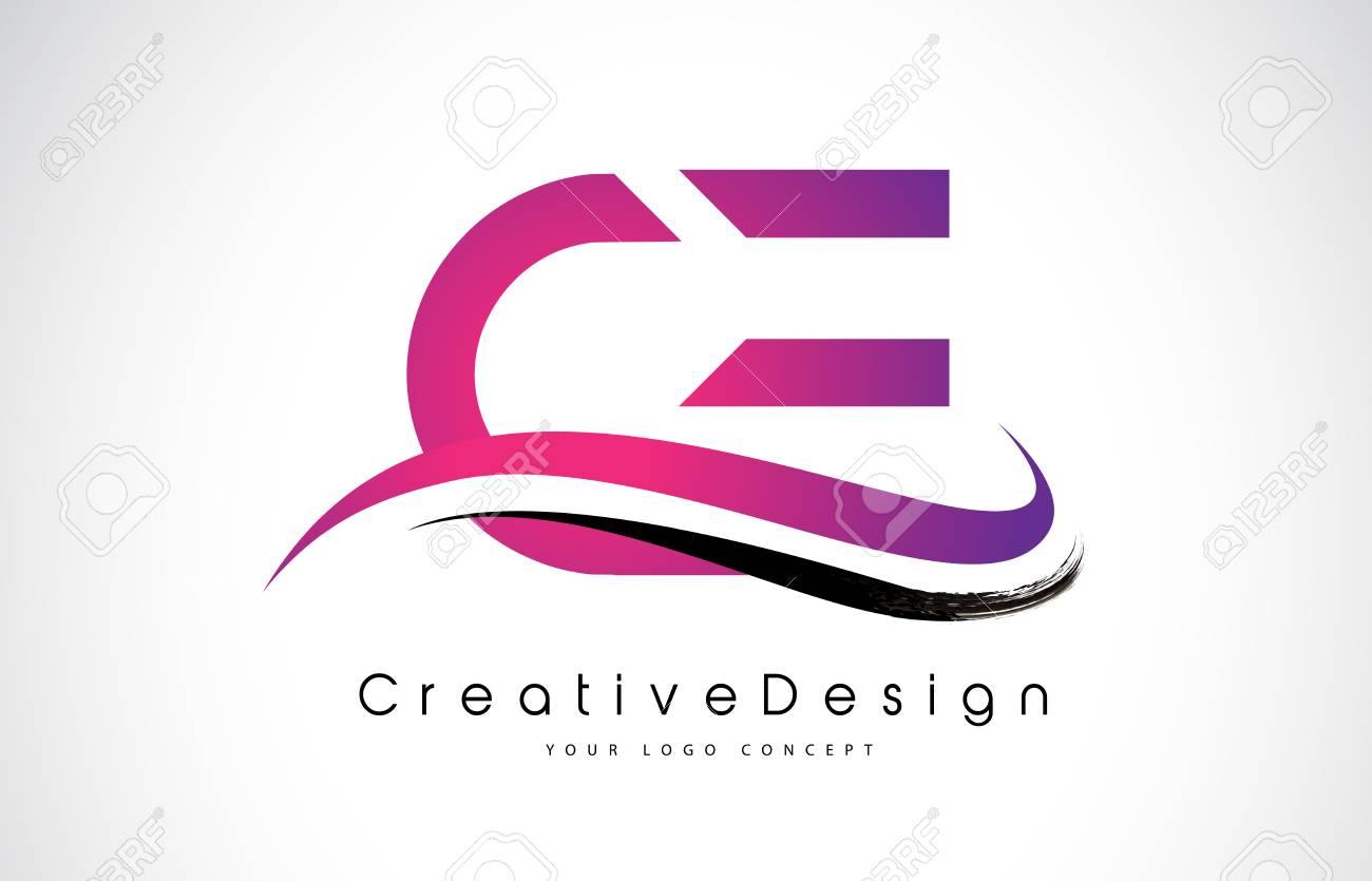 CE C E Letter Logo Design In Black Colors. Creative Modern Letters ...