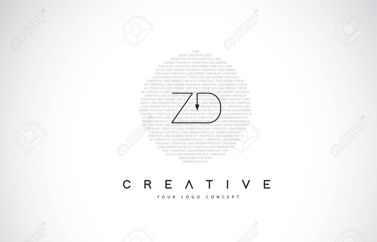 Zd Z D Logo Design With Black And White Creative Icon Text Letter