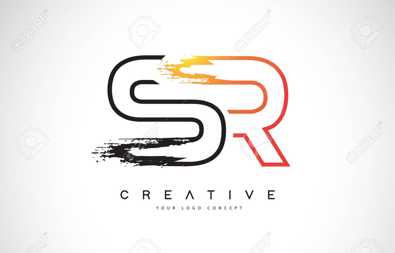 Sr S R Creative Modern Logo Design Vetor With Orange And Black Royalty Free Cliparts Vectors And Stock Illustration Image 110771674