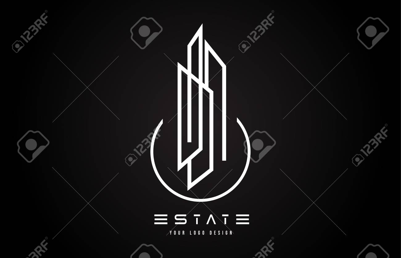 Real Estate Modern Monogram Logo Design Real Estate Lines Abstract Royalty Free Cliparts Vectors And Stock Illustration Image 118744065