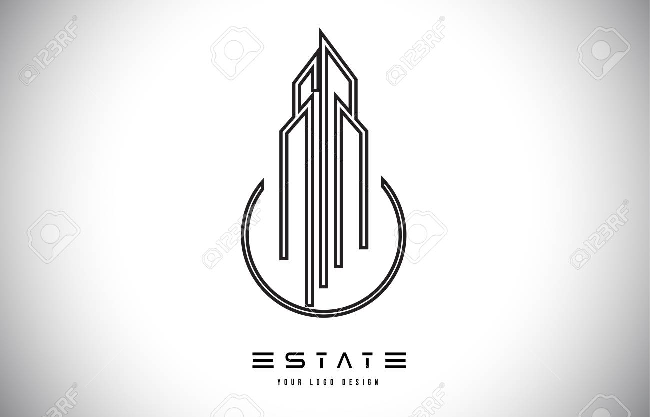 Real Estate Modern Monogram Logo Design Real Estate Lines Abstract Royalty Free Cliparts Vectors And Stock Illustration Image 119782314