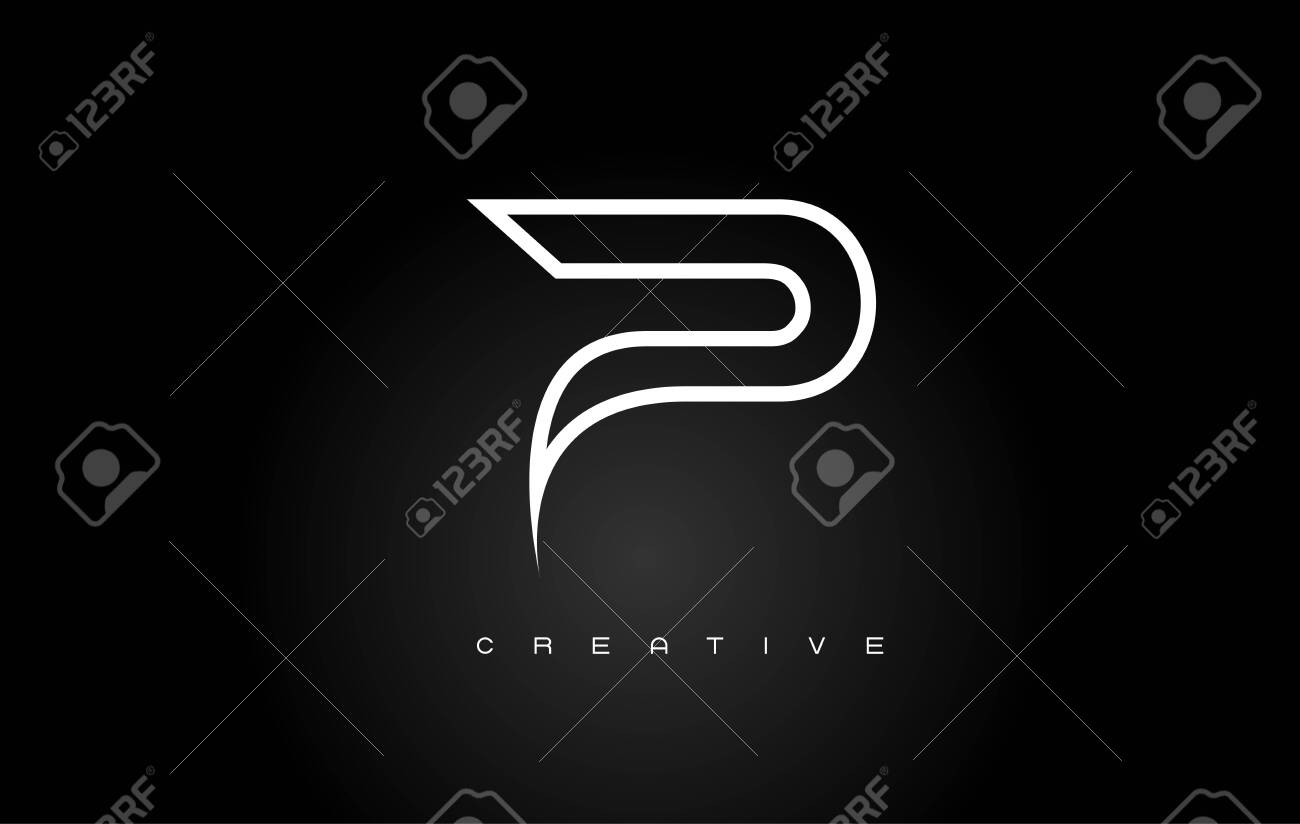 Gold Letter P Logo. P Letter Design Vector with Golden Colors and Bubbles. - 121297078