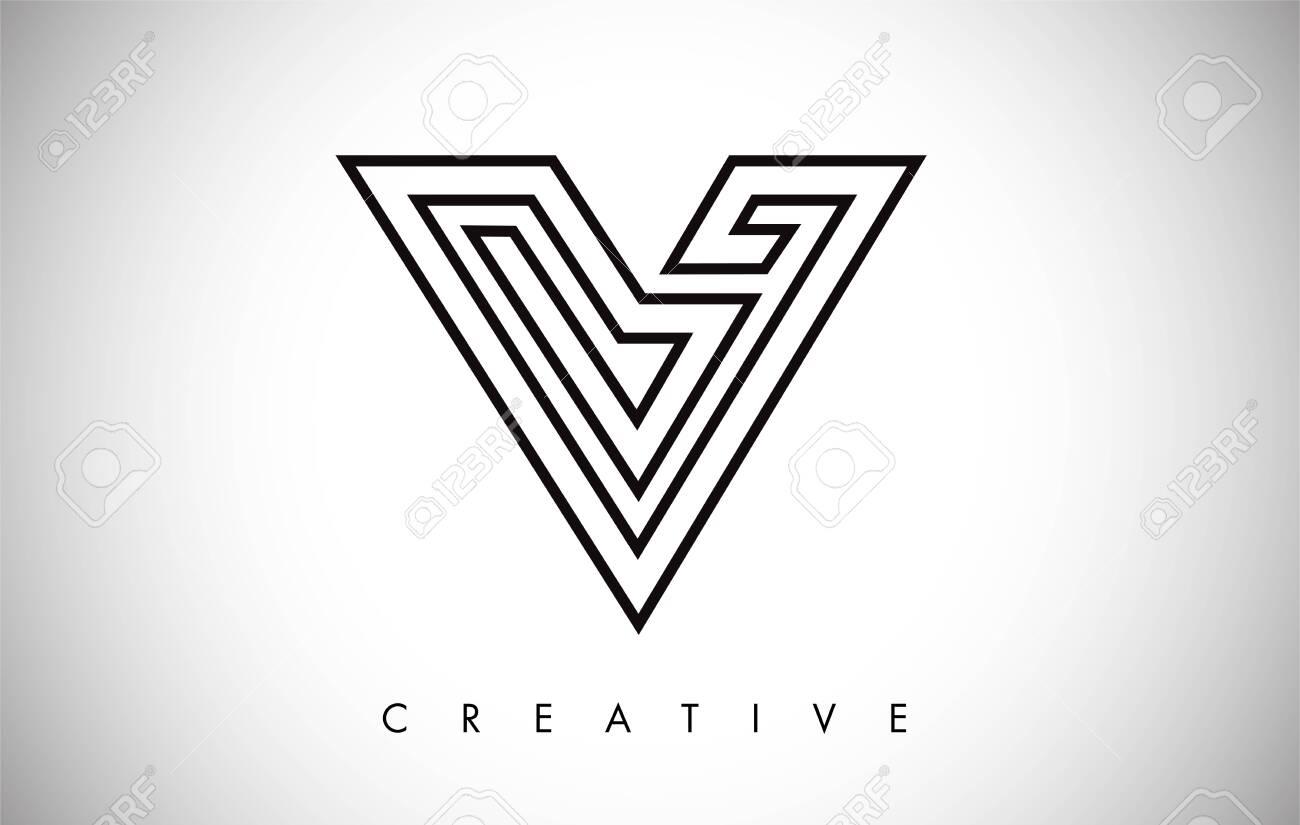 V Letter Modern Trendy Design Logo. Letter V Icon Logo with Monogram Vector Illustration. - 130430717
