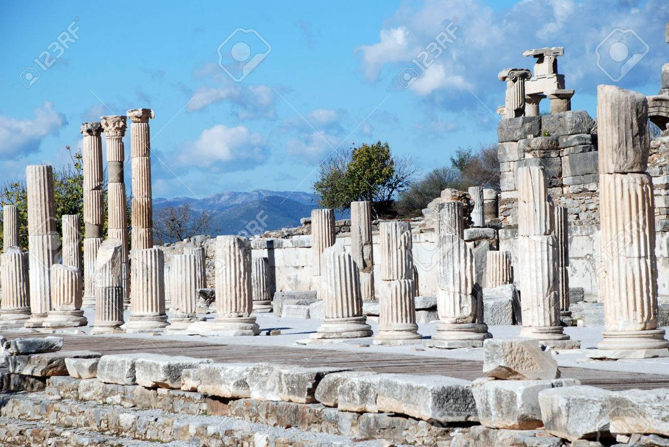 Ephesus Izmir Turkey Middle East Stock Photo Picture And Royalty Free Image Image 62605623
