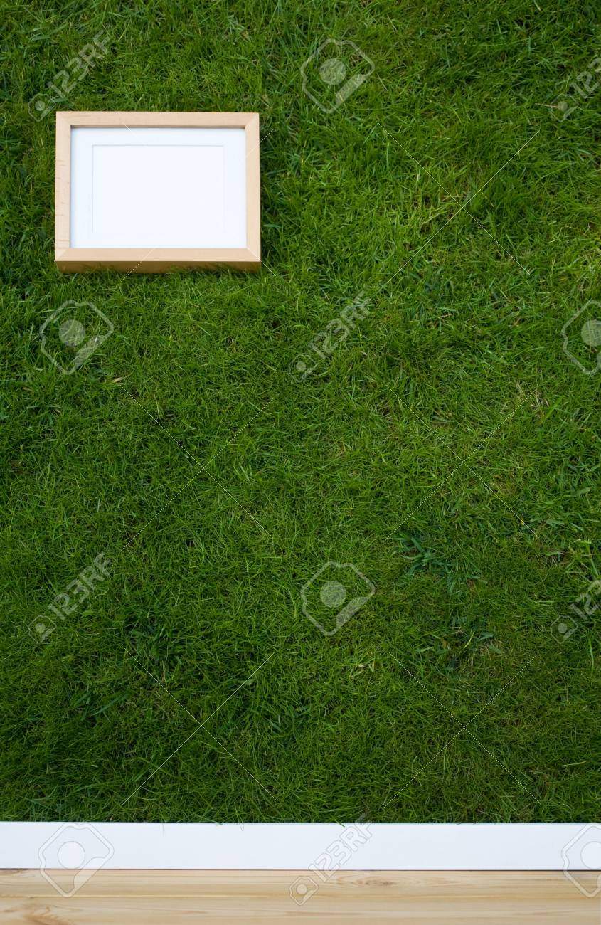 wallpaper with grass texture and frame with copy-space Stock Photo - 3635576