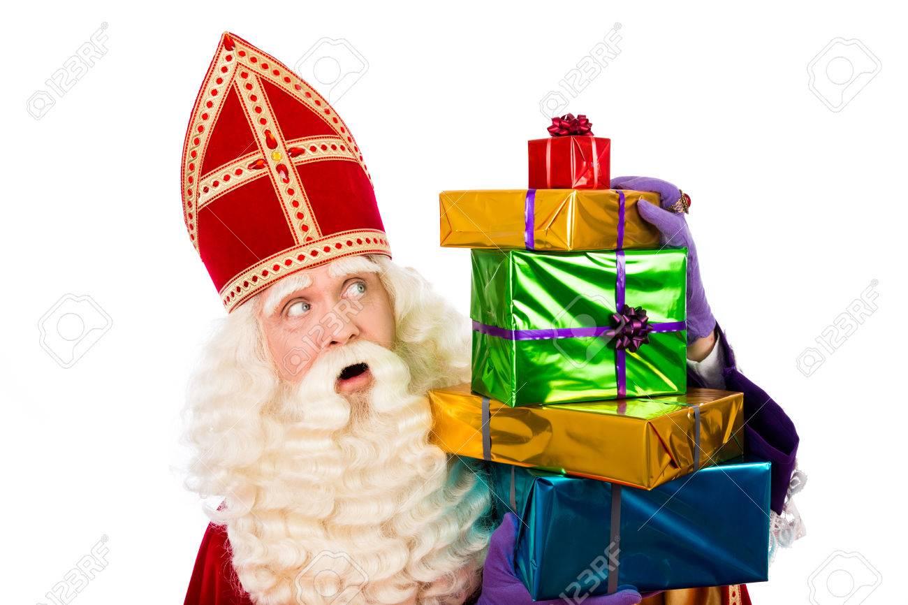 Sinterklaas Mit Geschenken Typisch Holländischen Characterof