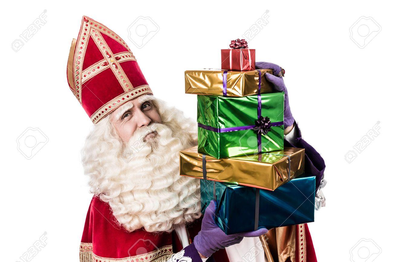 Sinterklaas Mit Geschenken Weinlese Bearbeitung Typisch
