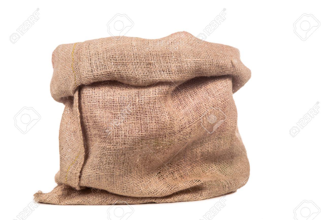 Empty burlap or jute bag. - 64452827