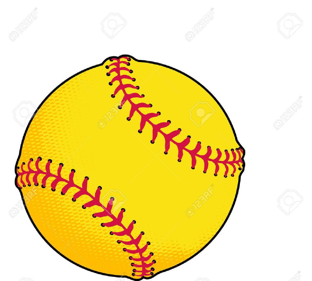 Yellow Softball Image Softball Yellow Softball or