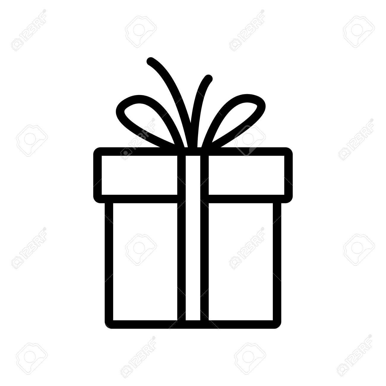 Gift box line icon - 150091827