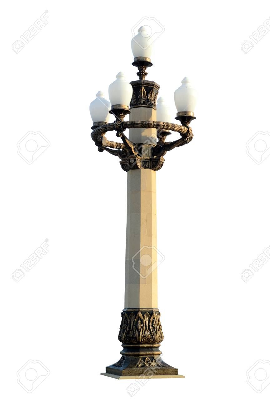 Stone Lamppost Stock Photo, Picture And Royalty Free Image. Image ... for Stone Lamp Post  587fsj