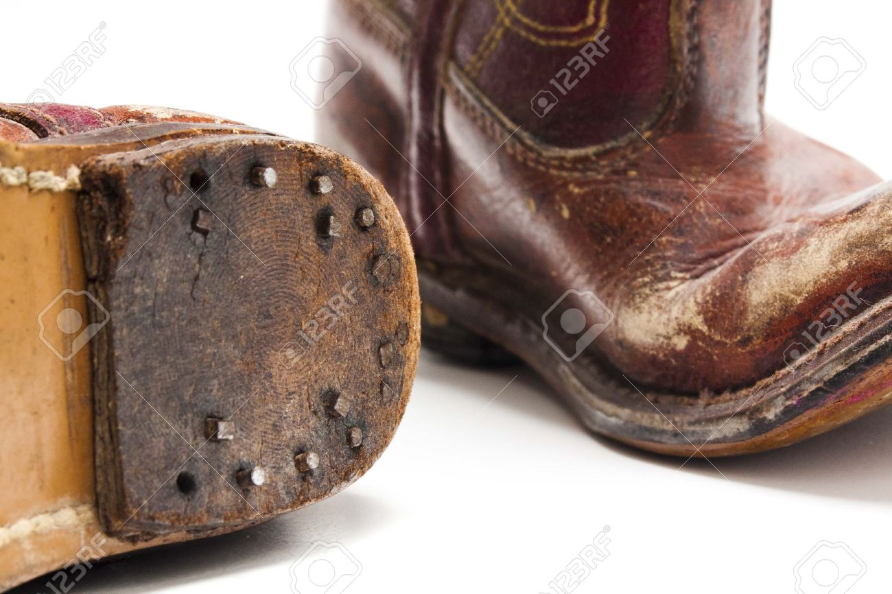 Old Worn Out Pare Of Cowboy Boots From Someones Childhood Days ...
