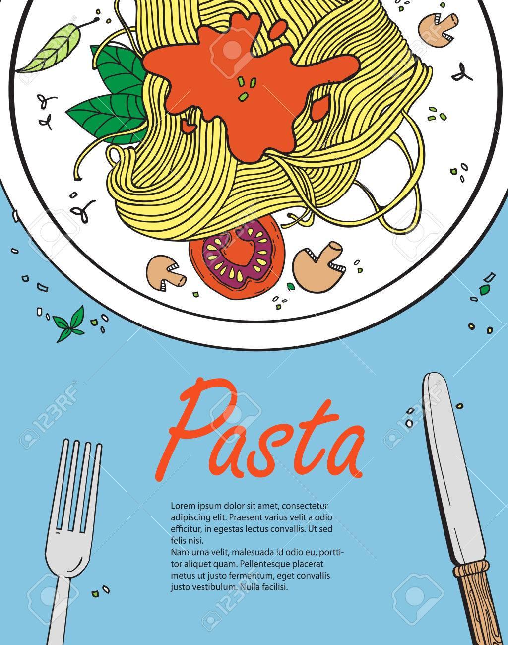 vector cooking banner template with pasta design a menu menu