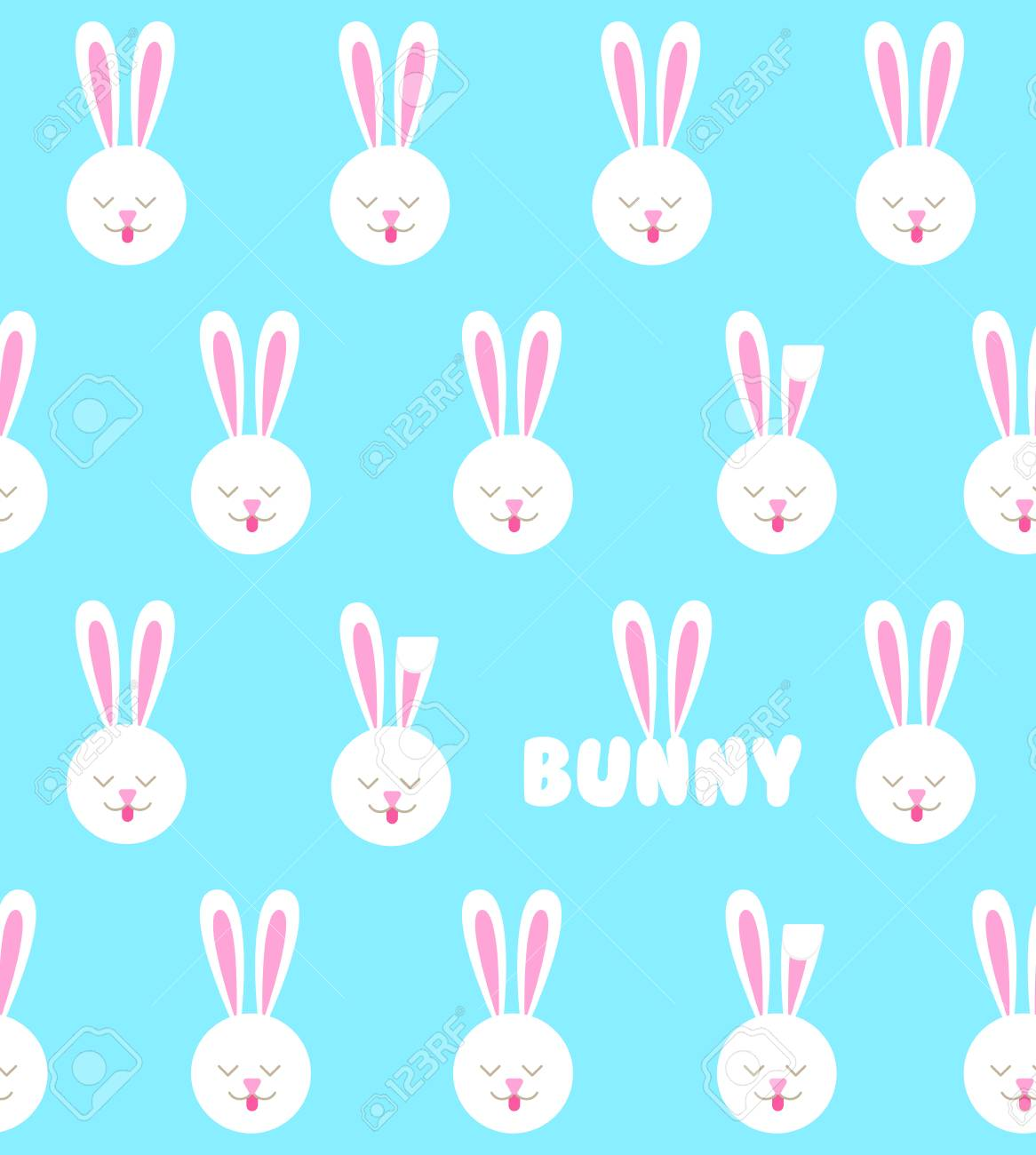 seamless pattern with bunny rabbit pattern royalty free cliparts