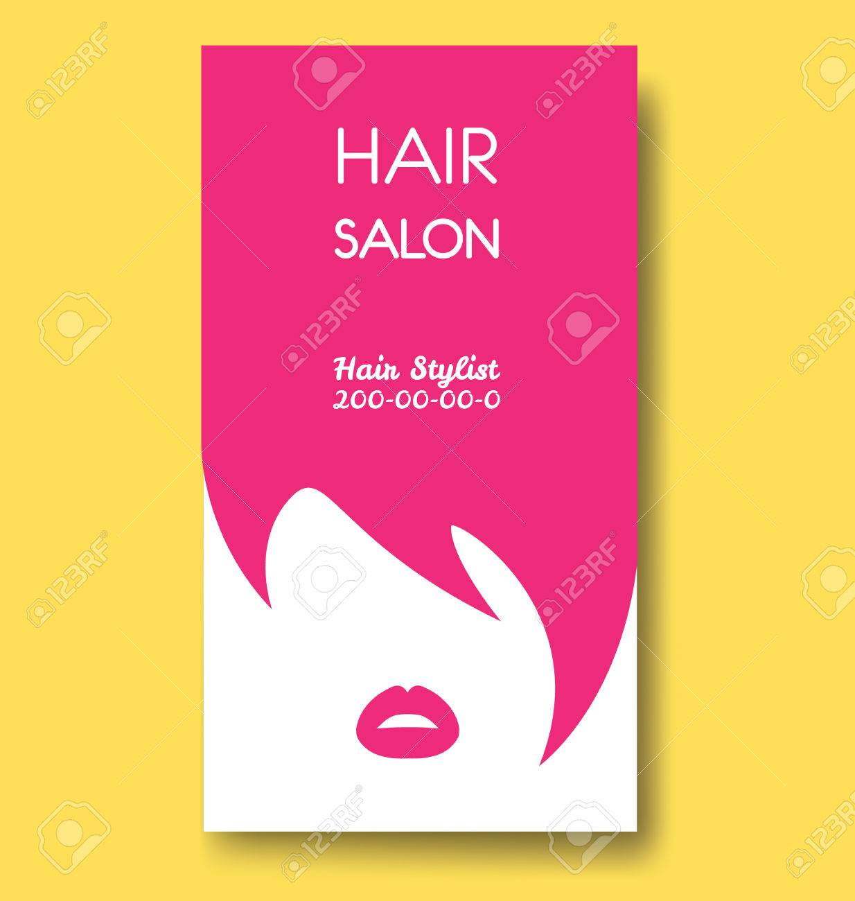 Modele De Carte Visite Salon Coiffure Avec Les Cheveux